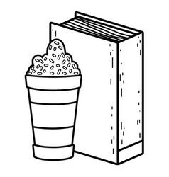 Text book with milkshake day celebration vector