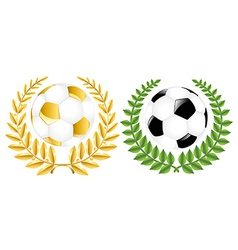 Two Soccer Balls With Wreathes vector image