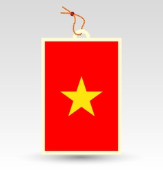 Vietnamese made in tag vector