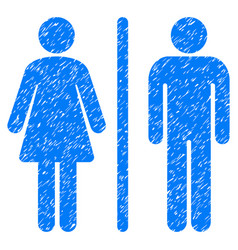 Wc persons grunge icon vector