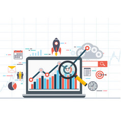 web analytics information and development vector image