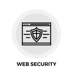 Web Security Line Icon vector image