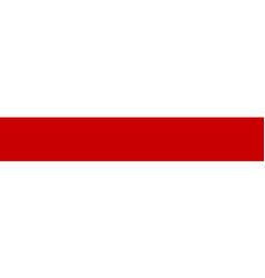 White-red-white flag republic belarus vector