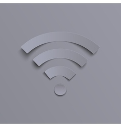 Wi-fi icon on grey background vector