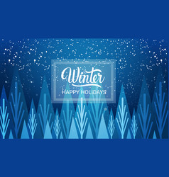 Winter is coming happy holidays greeting card vector