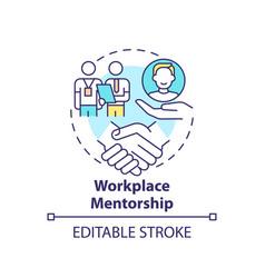 Workplace mentorship concept icon vector