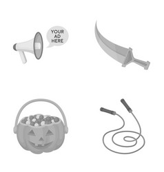 sport halloween and other monochrome icon in vector image vector image