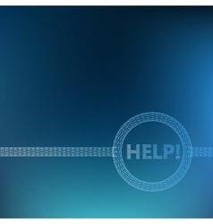The inscription - Help Molecular lattice vector image vector image