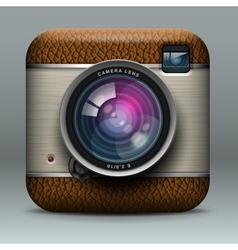 Vintage professional photo camera icon vector image vector image