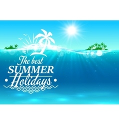 Best summer holidays paradise beach palm island vector image vector image