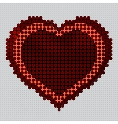 Screw design - heart vector image vector image