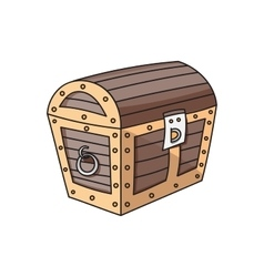 wooden box chest vector image vector image