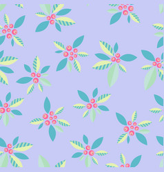 A delicate ornamental pattern with berries on a vector
