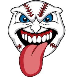 baseball face vector image vector image