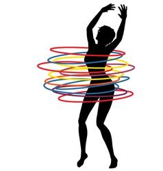 Hoop woman vector image vector image