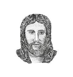 Jesus Christ Front View vector image vector image