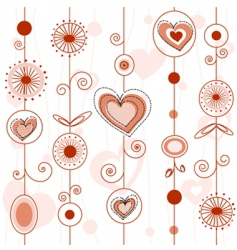 love concept pattern vector image vector image