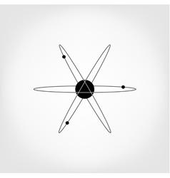 icon atom model molecule vector image