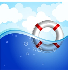 Rescue buoy vector