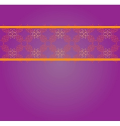 Vintage floral lace pattern vector image vector image