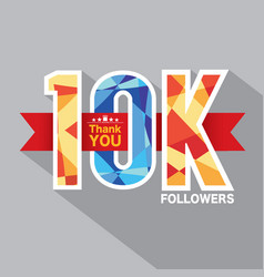 10k followers banner for celebrating followers vector