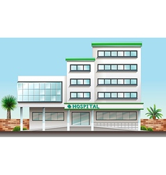 A hospital building vector image