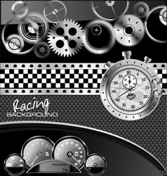 Abstract racing background vector image