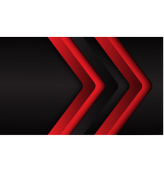 Abstract red black arrow 3d direction vector
