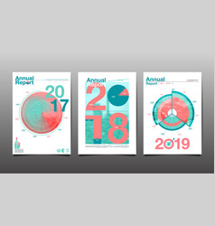 Annual report 201720182019future template vector