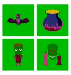 assembly flat cute bat potion vector image