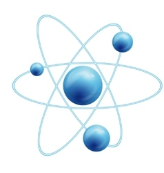 atom symbol with a globe vector image