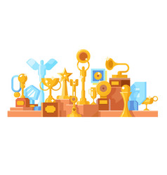 awards set design flat vector image