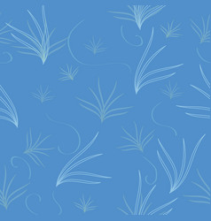 background pattern blue seaweed seamless vector image