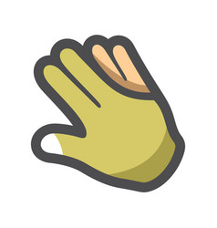 Billiard pool glove icon cartoon vector