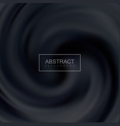 black creamy swirling background vector image