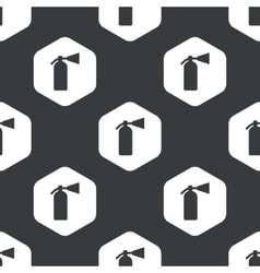 Black hexagon fire extinguisher pattern vector