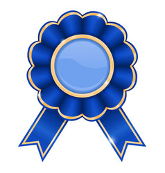 blue award badge vector image