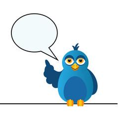 Blue bird says vector