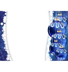 Blue Christmas tree ornaments vector image