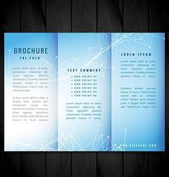 blue trifold brochure design vector image