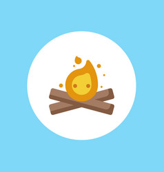 bonfire icon sign symbol vector image