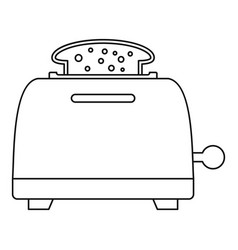 Bread toaster icon outline style vector