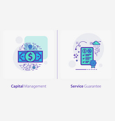 business and finance concept icons capital vector image