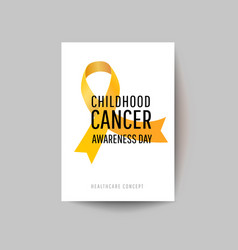 Card for childhood cancer awareness day vector