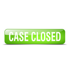 case closed green square 3d realistic isolated vector image