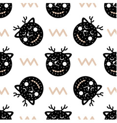 childrens seamless pattern in scandinavian style vector image