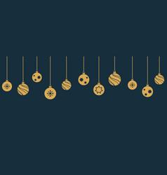 Christmas balls hanging ornament vector