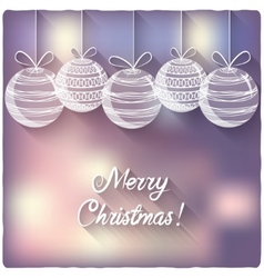 Christmas balls on blurred background vector image