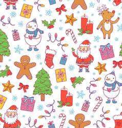 christmas pattern on white vector image