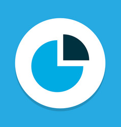 Circle graph icon colored symbol premium quality vector